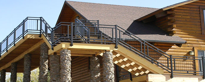 Flagstaff log home banner